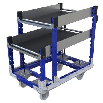 Shelf cart designed for a mother frame