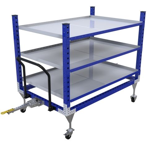 Shelf cart designed to be used together with an AGV.