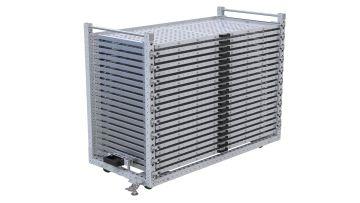 Extendable SHelf cart for thin materials.