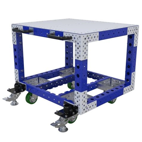 Material handling cart specially designed for different engine components.
