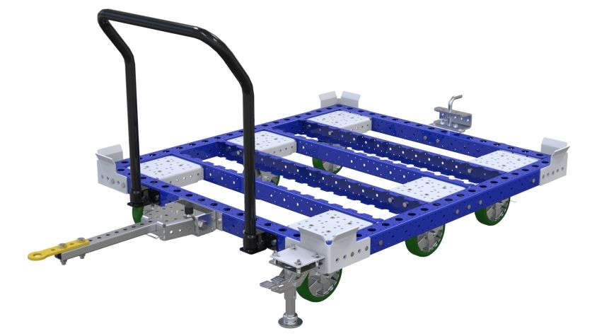Tugger cart for pallets