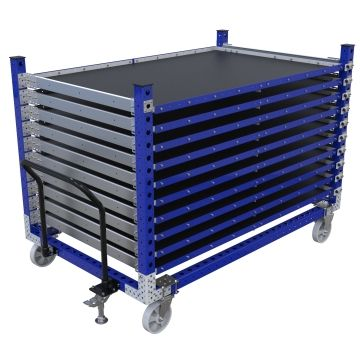 Extendable Shelf Cart for flat panels