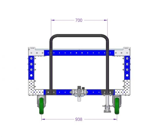 50 x 50 inch Industrial Modular Cart