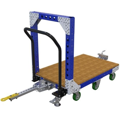 Custom designed tugger cart