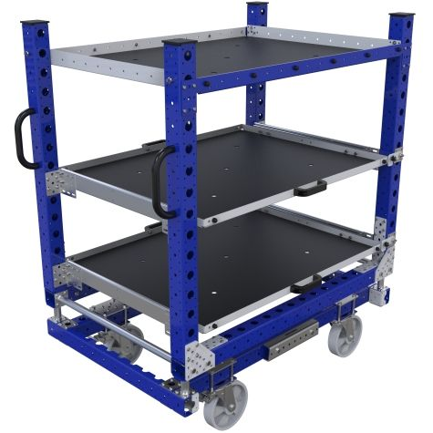 Large extendable shelf cart