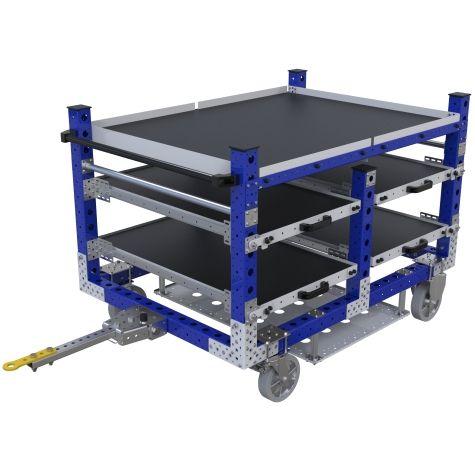 Custom shelf tugger cart