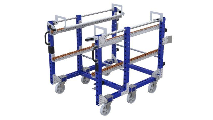 Custom designed transfer cart