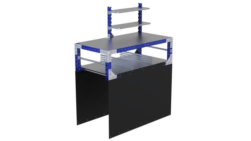 Custom industrial work table