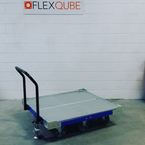 Push Cart 50 x 50 inch with Handle Bar and Floor Brake