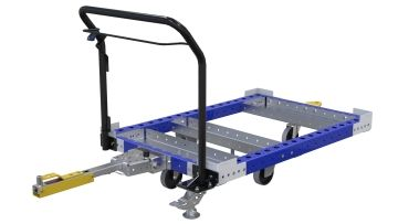 Tuggable pallet/container cart,