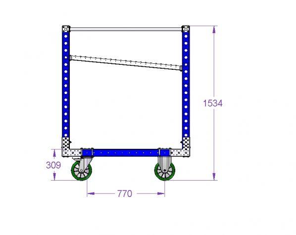 Carro de rodillos de 980 x 1260 mm