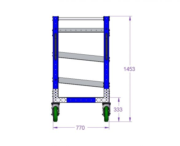 Shelf Cart for Totes 55 x 30.5 inch