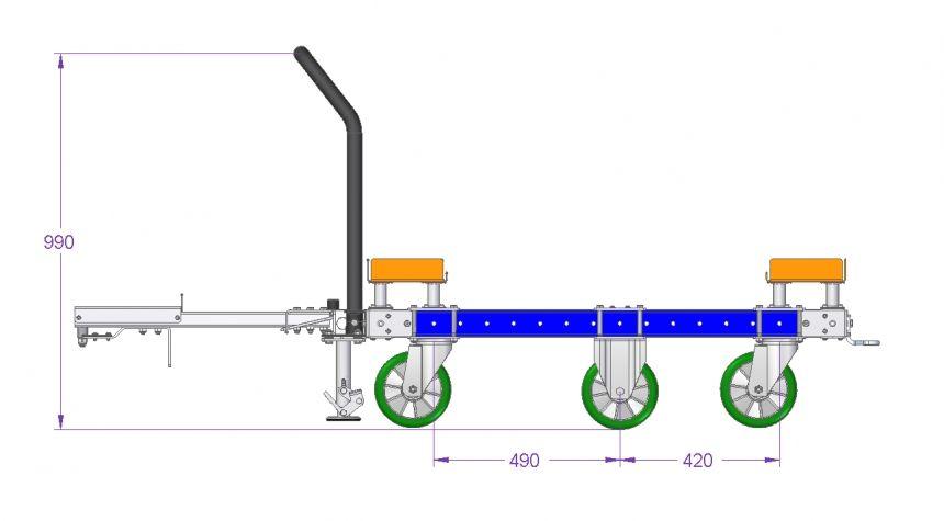 Tugger Train Cart - 50 x 50 inch