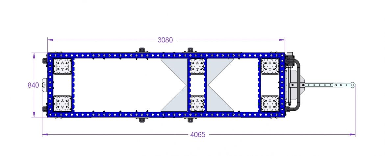 Tugger Train Cart 3080 x 840 mm
