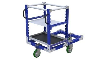 This cart was designed to transport cylinders and pallets.