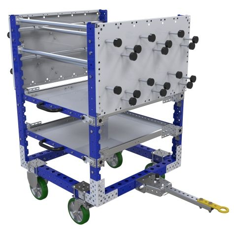 Shelf kit cart custom designed to store a wide range of materials.