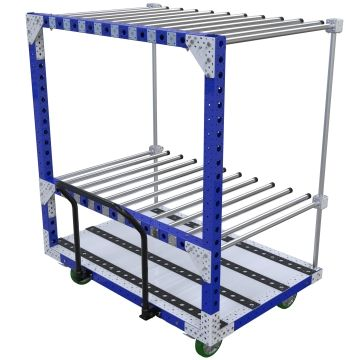 This push cart is used to store and transport large panels and or plates.