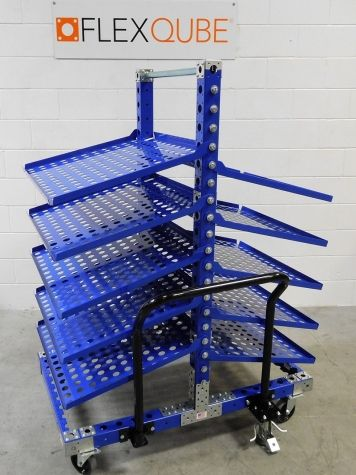 Removable Flow Shelf Cart 60 x 50 inch