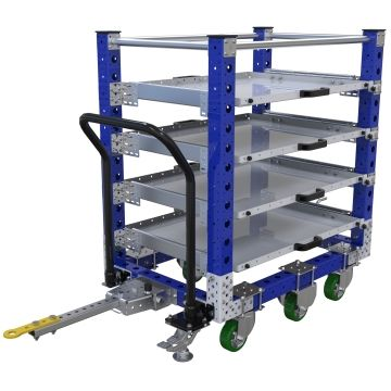 Four levels extendable shelf cart.