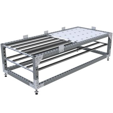 The rack is designed to hold larger panels.