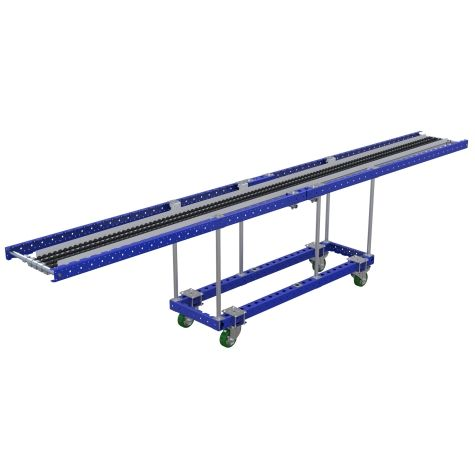 This is a roller cart to hold one long profile.