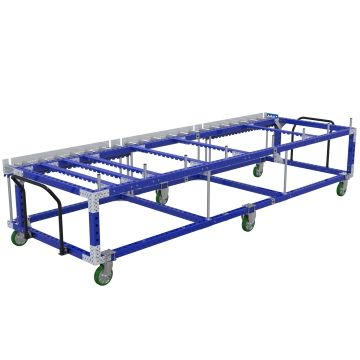 This cart is specially designed for improved material flow.
