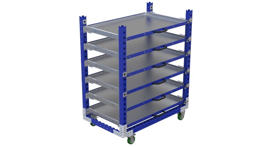 Extendable shelf cart