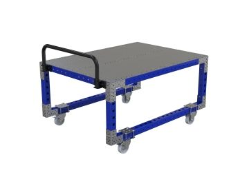 Raised push cart
