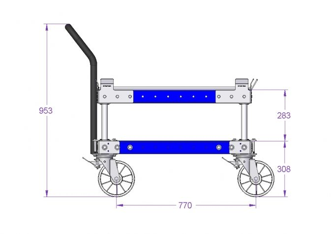 Pallet Cart with Sub Frame 1260 x 840 mm