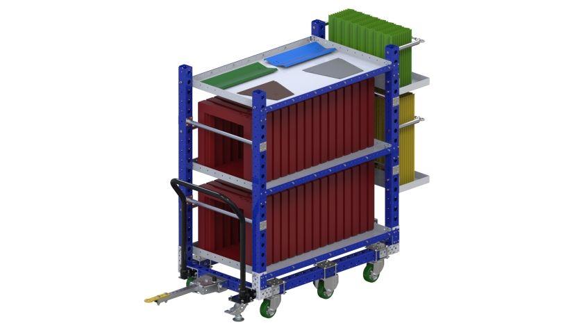 XKit cart with custom shelves