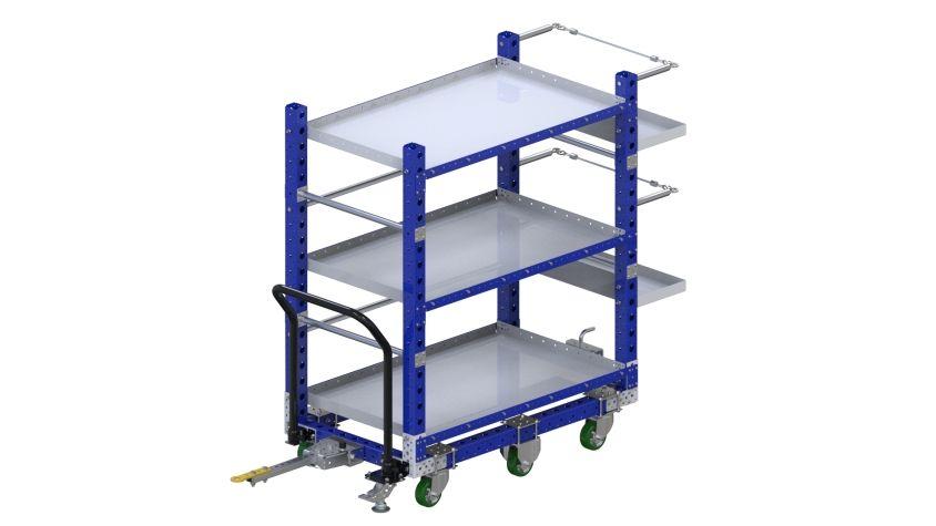 Kit cart with custom shelves