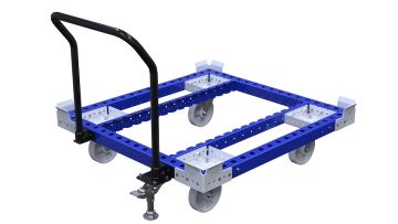 Pallet cart designed to transport pallets and containers or bins and boxes.