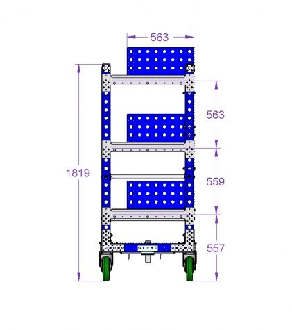 Kit Cart in Ergonomic Height 1680 x 770 mm