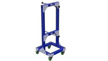 Material handling cart specially designed for hoses.