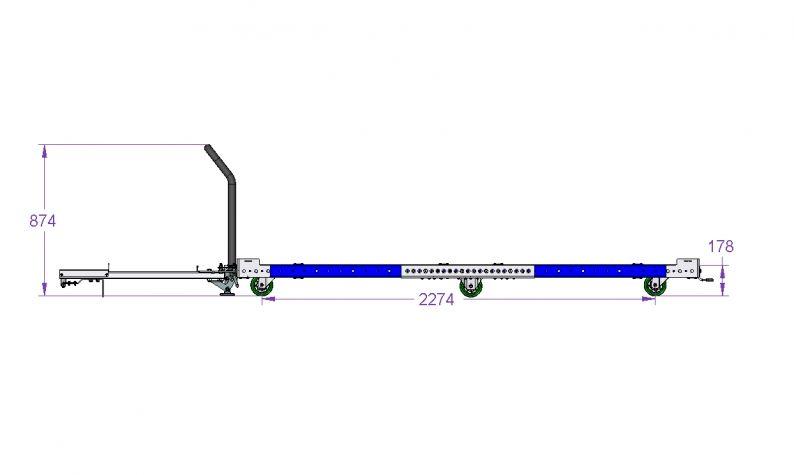Base Cart for Racks 2660 x 2310 mm