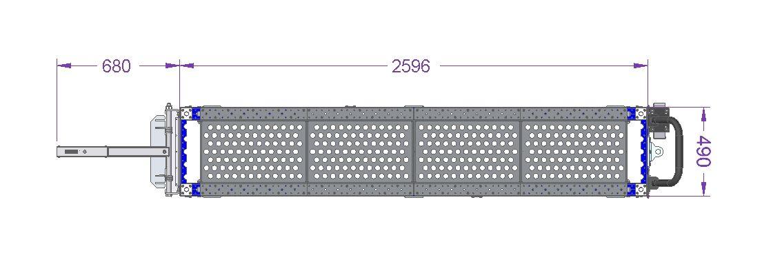 Tugger Cart 560 x 2590 mm
