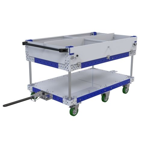 Tugger Shelf Cart with Dividers