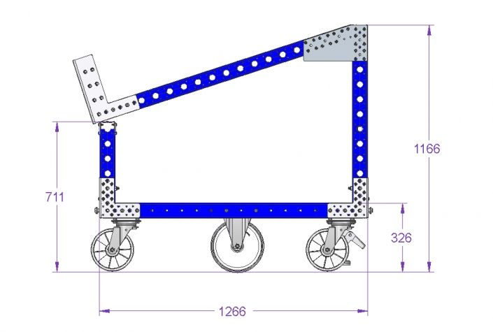 EUR Pallet Cart with Tilted Sub Frame 51 x 33 Inch