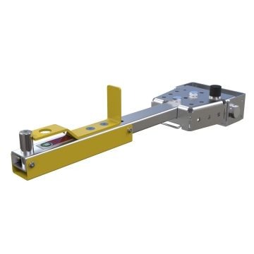 Foot release tow bar can be used on all FlexQube carts.
