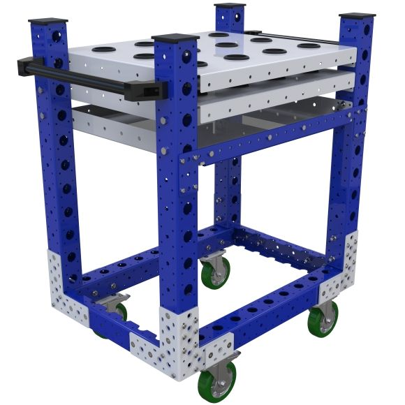 This kit cart was custom-designed to store and transport cylinders.