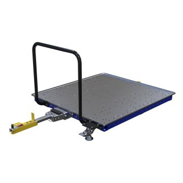 Tuggable low rider pallet/container cart.