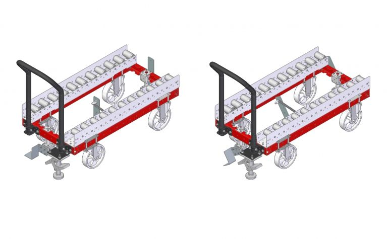 Roller top cart 1120 x 560 mm