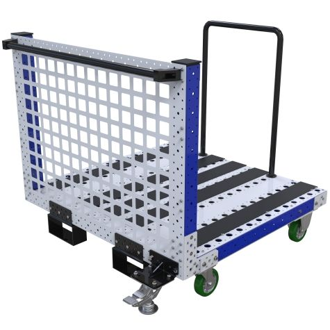 This push cart was designed to store and transport heavy panels.