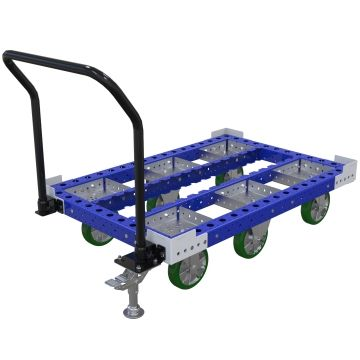 A standard container cart.