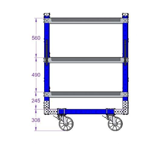 Flow Shelf Cart 1190 x 770 mm (47 x 30 inch)