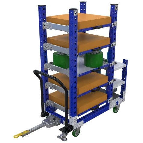 Specially designed kit cart.