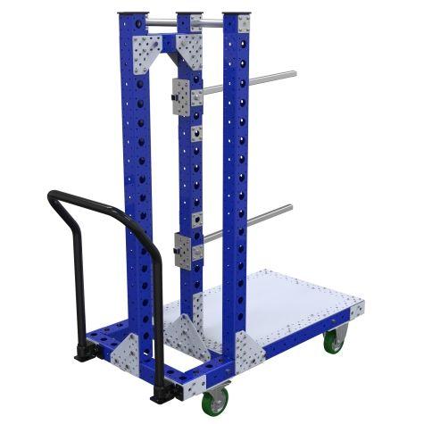 Heavy-duty hanging cart.