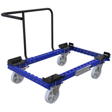 Cart designed to transport pallets and containers.