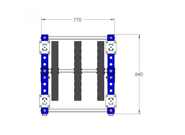 Kit cart for tanks - 770 x 840 mm