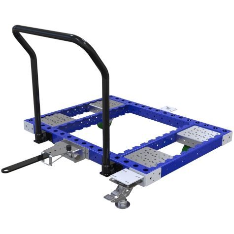 Low rider tugger cart most commonly used for the transportation of pallets and containers.